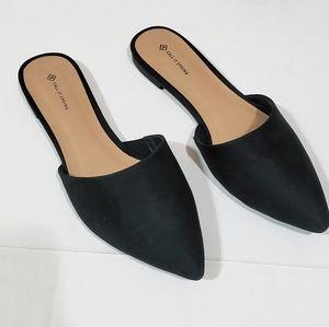 Call It Spring slip on strapless sandal in Black